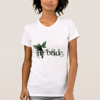 Negativa blanca del verde de hadas del vestido - camisetas