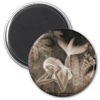 Negativa de Brown de la sirena del fondo 3D del fr Imán Redondo 5 Cm