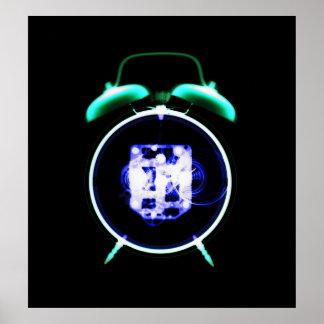 Negativa original del reloj pasado de moda de la r impresiones