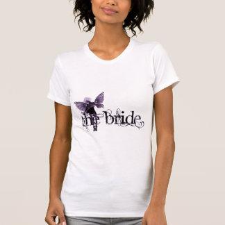 Negativa púrpura de hadas del vestido blanco - la camiseta
