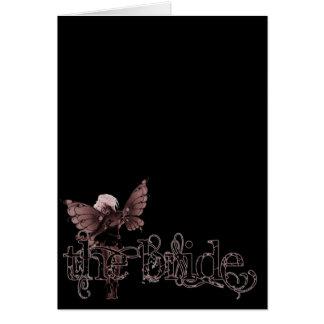 Negativa roja de hadas del vestido blanco - la tarjeta de felicitación