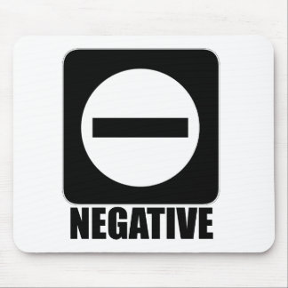 Negative 1 Black Mouse Pads