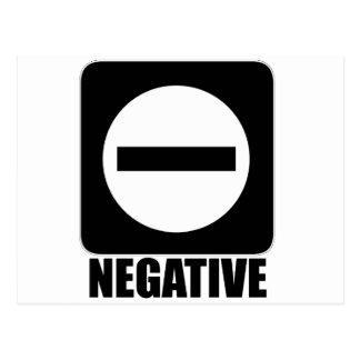 Negative 1 Black Postcard