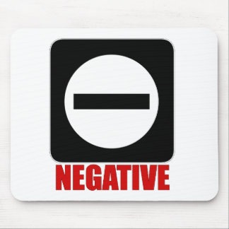 Negative 1 Red Mousepads