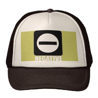 Negative 1 White Trucker Hat