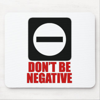 Negative 2 Red Mouse Pads