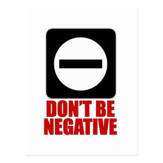 Negative 2 Red Postcard