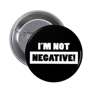 Negative black pinback buttons