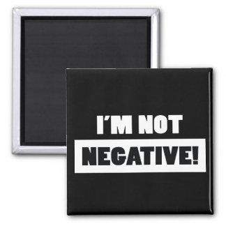 Negative black fridge magnet