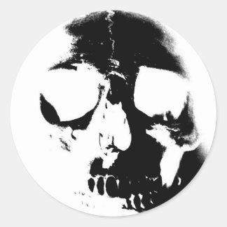 Negative Black & White Skull Sticker