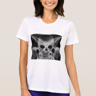 Negative Chrome Siamese Skull Sculpture by KLM Tees