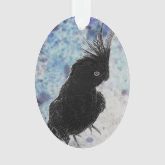 Negative Cockatiel Ornament