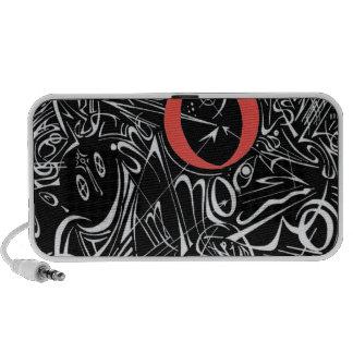 Negative Doodles Travel Speakers