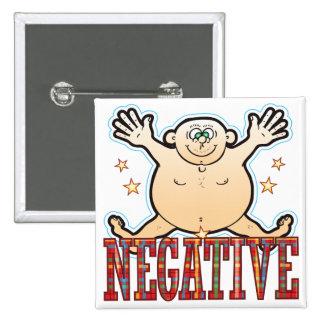 Negative Fat Man Pinback Button