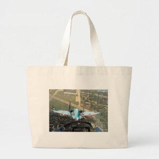 negative g nose-over large tote bag