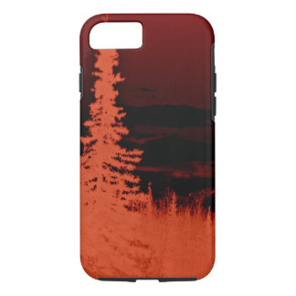 Negative Image Orange Camouflage Forest iPhone 7 Case