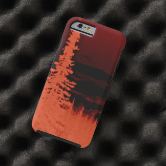 Negative Image Orange Camouflage Forest Tough iPhone 6 Case