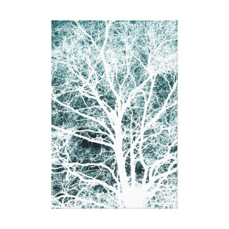 Negative image tree pattern gallery wrapped canvas
