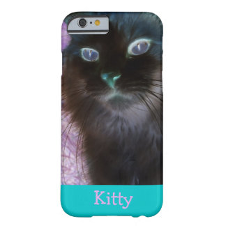 Negative Kitty in Teal and Pink iPhone 6 Case