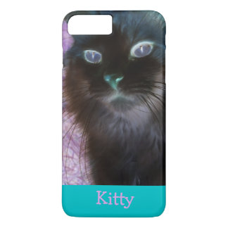 Negative Kitty in Teal and Pink iPhone 7 Plus Case