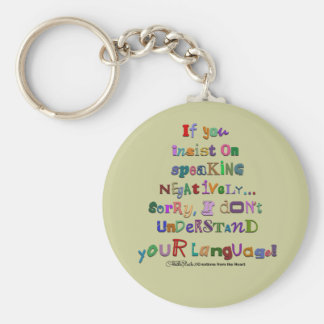 Negative Language Keychain