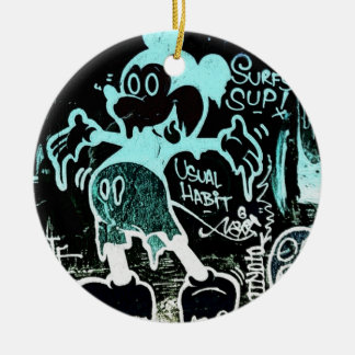 Negative Mouse Ceramic Ornament