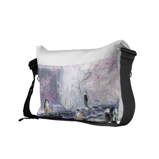 Negative Penguins Messenger Bag