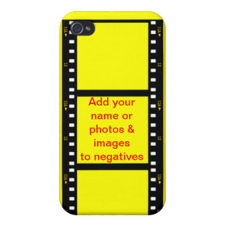 negative photo film customize name & background iPhone 4 covers