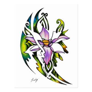 Negative Positive Lotus Dream Postcard