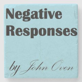 Negative Responses Logo Coaster