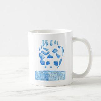Negative Skull Sketch In Blue Coffee Mug