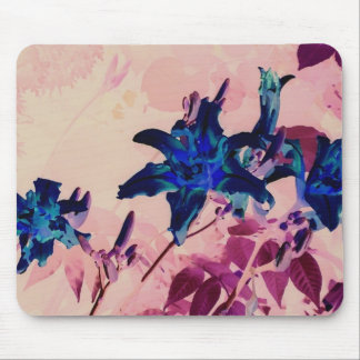 negative tiger lilies mouse pad