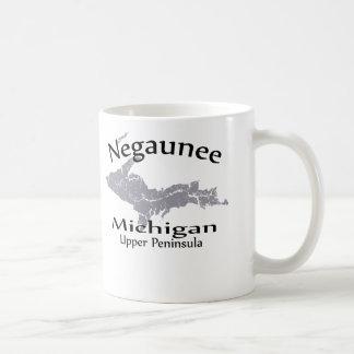 Negaunee Michigan Map Design Mug Mugs