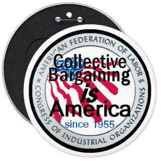 Negociación colectiva 6 botón pins