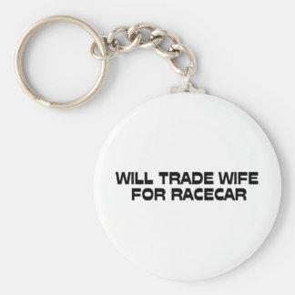 Negociará a la esposa para Racecar Llavero