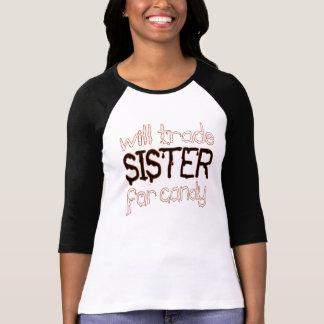 negociará a la hermana para la camiseta de Hallowe