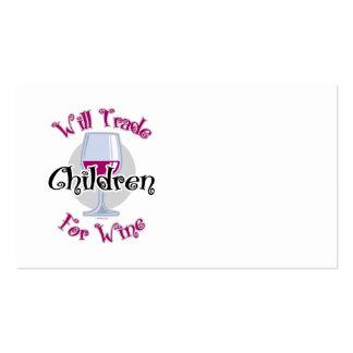 Negociará a los niños para el vino plantillas de tarjeta de negocio