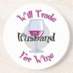 Negociará al marido para el vino posavasos manualidades