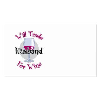 Negociará al marido para el vino tarjeta de visita