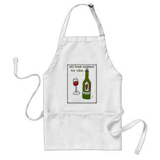 Negociará al marido para la impresión del vino… de delantal