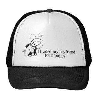 Negocié a mi novio para un perro retro del espacio gorras