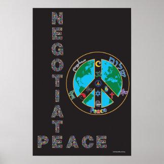 Negocie el poster de la paz