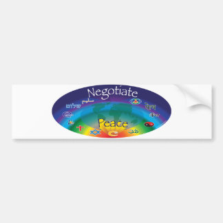 Negocie la paz etiqueta de parachoque