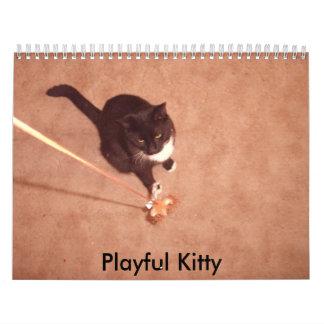 negocio 5-29, gatito juguetón calendarios de pared