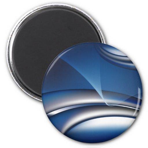 negocio abstracto azul notebook-01 imán redondo 5 cm