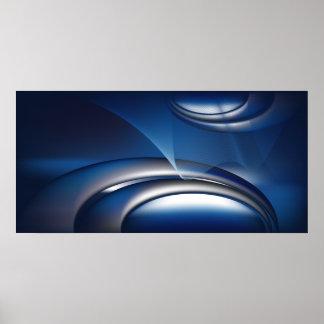 negocio abstracto azul notebook-01 póster