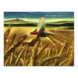 """Negocio agrícola del vintage, trigo que cultiva la invitación 4.25"""" x 5.5"""""""
