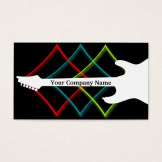 Negocio caliente de la guitarra del color del tarjetas de visita