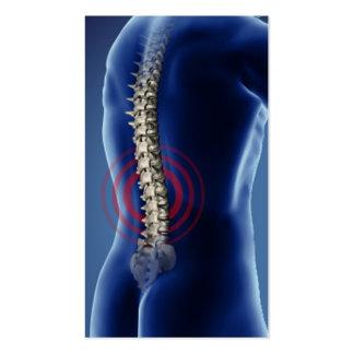 Negocio Card2 del Chiropractor Tarjetas De Visita