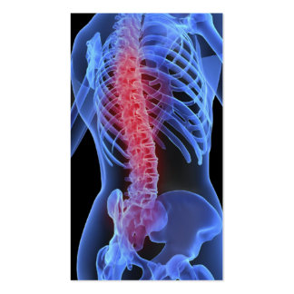 Negocio Card3 del Chiropractor Tarjetas De Visita